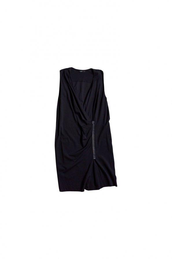 שמלת מעטפת שחורה cos 1