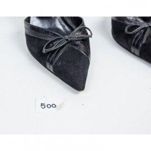 נעלי עקב שפיץ חצי פתוחות שחורות 4