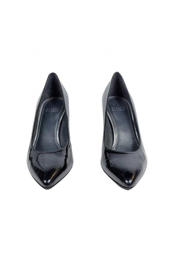 נעלי עקב שחור לקה 1