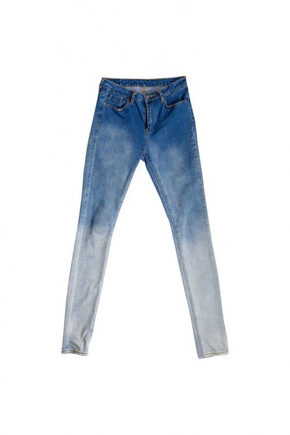 סקיני ג׳ינס תכלת כהה 1