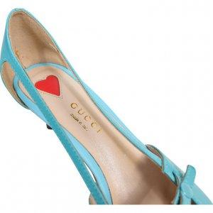 נעלי עקב תכלת תכלת דובדבנים 2