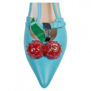 נעלי עקב תכלת תכלת דובדבנים 3