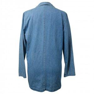 ג'קט ג'ינס מחויט עם פרחים רקומים 3