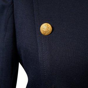 ג׳קט מחויט שחור כפתורי זהב 2
