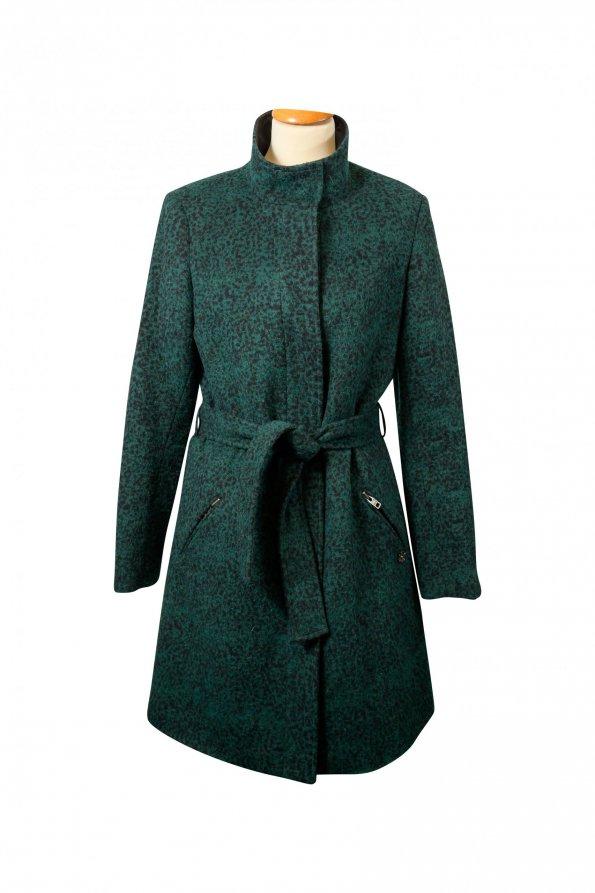 מעיל ארוך לבד ירוק מנומר 1