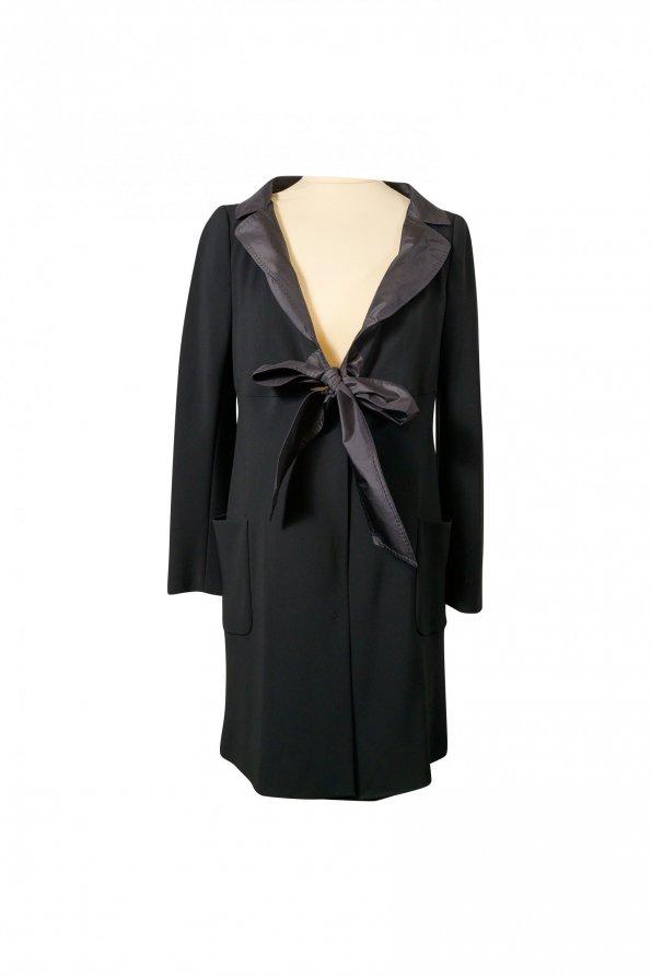 ג'קט שמלה שחור עם קשירה 1