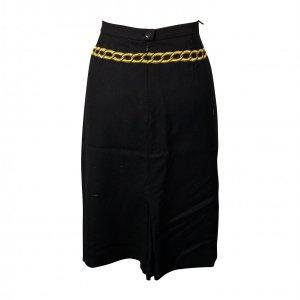 חצאית שחורה ריקמת זהב 2