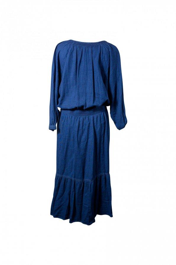 שמלת מקסי ג'ינס כהה 1