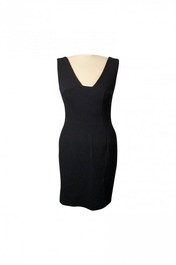 שמלה מחויטת שחורה 1
