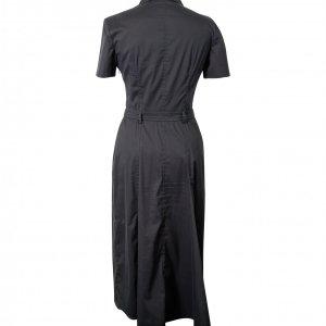 שמלת מידי מחויטת שרוול קצר שחורה 2