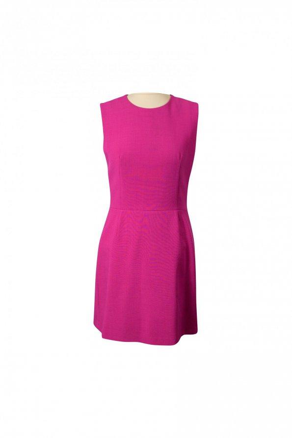 שמלה מחוייטת ורוד פוקסיה ללא שרוול 1
