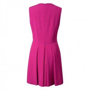 שמלה מחוייטת ורוד פוקסיה ללא שרוול 2