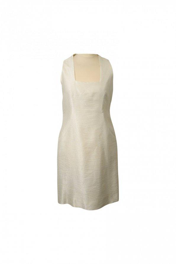שמלת פשתן זהב פנינה 1