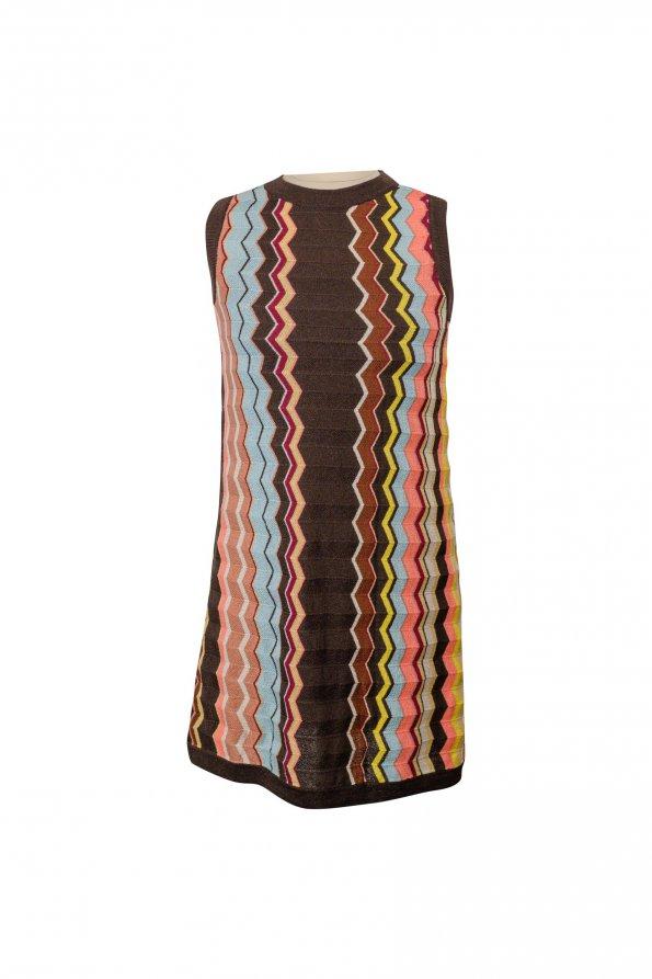שמלה סרוגה צבעונית 1
