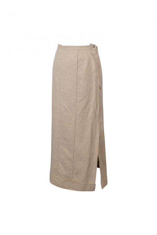 חצאית ארוכה חקי עם שסע בשני הצדדים 1