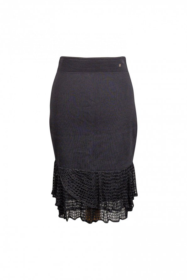חצאית סריג שחורה 1