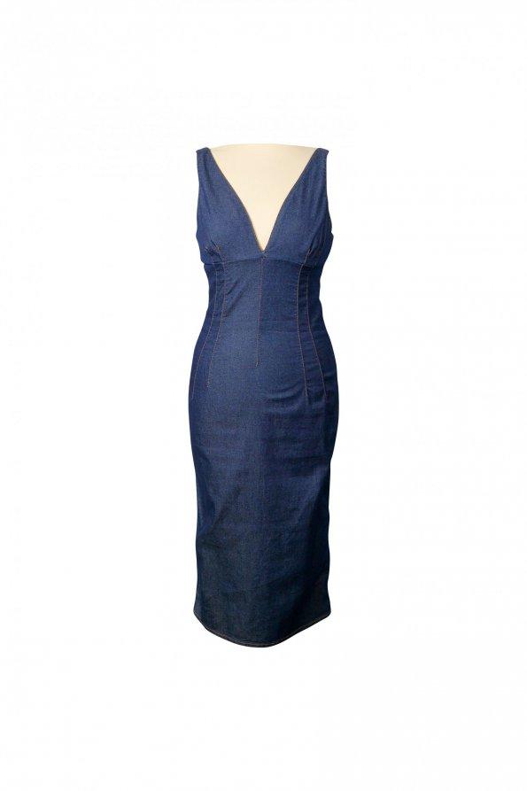שמלת ג'ינס מחויטת 1