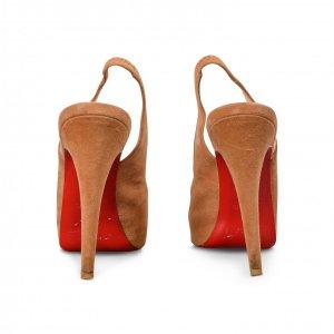 נעלי עקב זמש חום 5