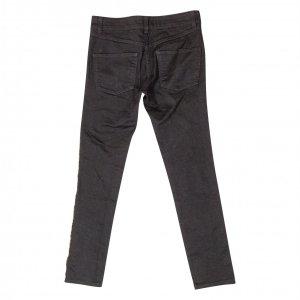 מכנס ג׳ינס שחור פס זהב בצד 2