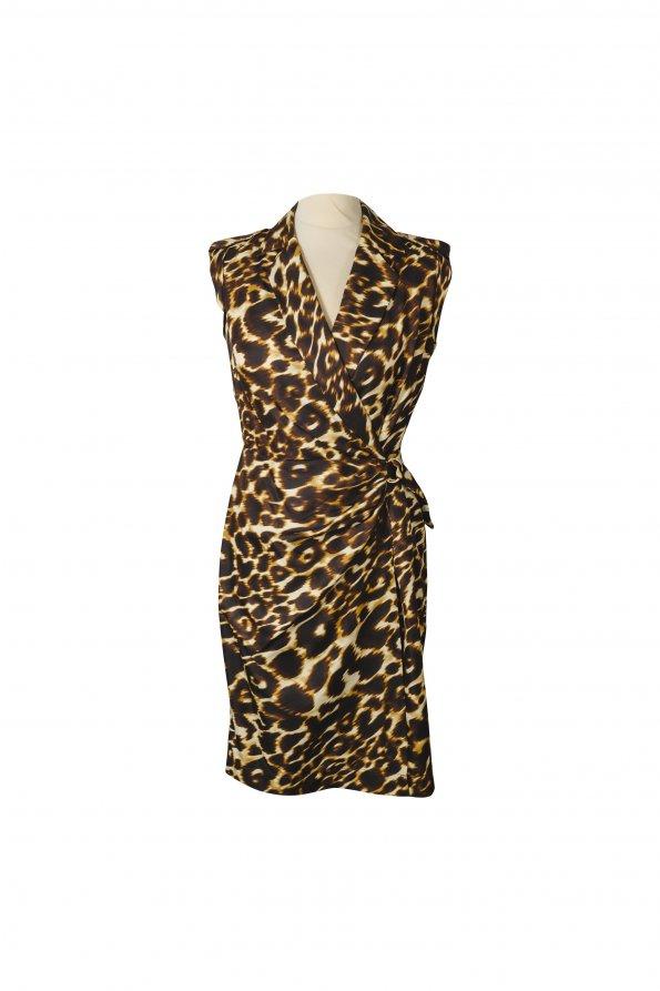 שמלה ללא שרוול מנומר 1