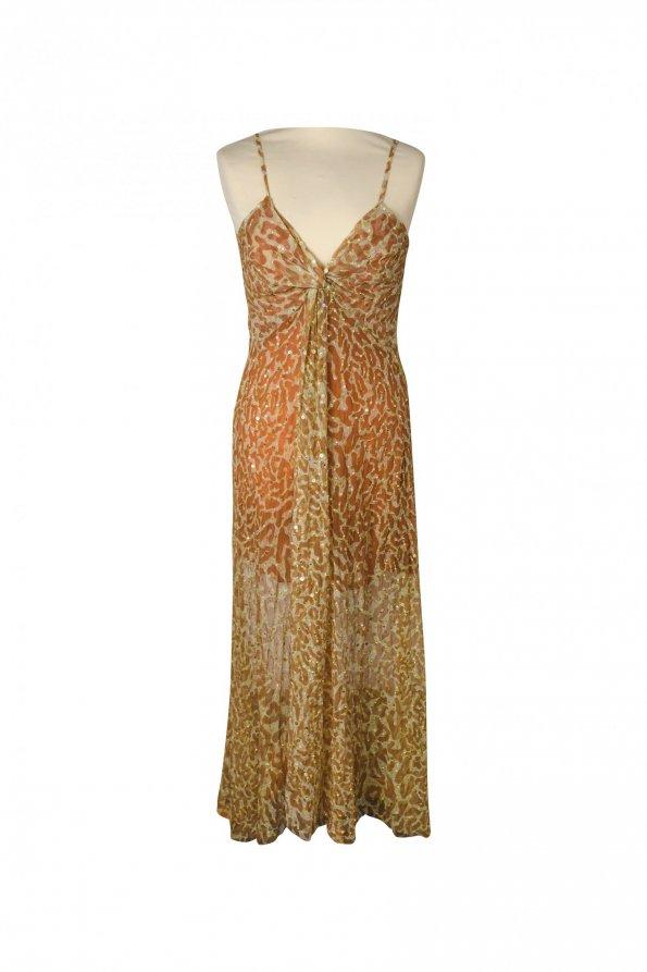 שמלת מקסי מנומרת עם פייטים 1