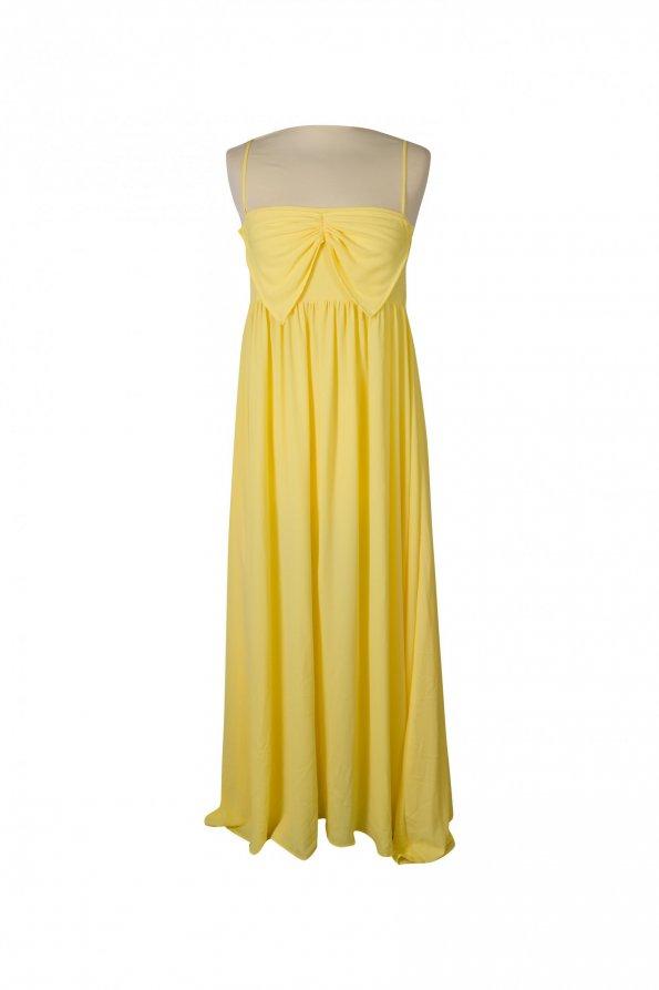 שמלת מקסי צהוב בננה 1