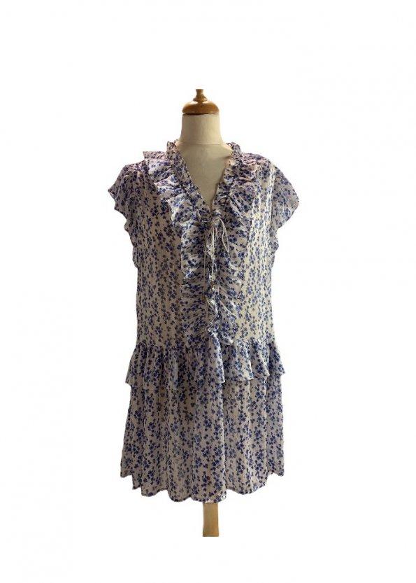 שמלה קצרה שיפון 1