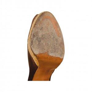 נעל עקב חומה עם עקב מעץ 3