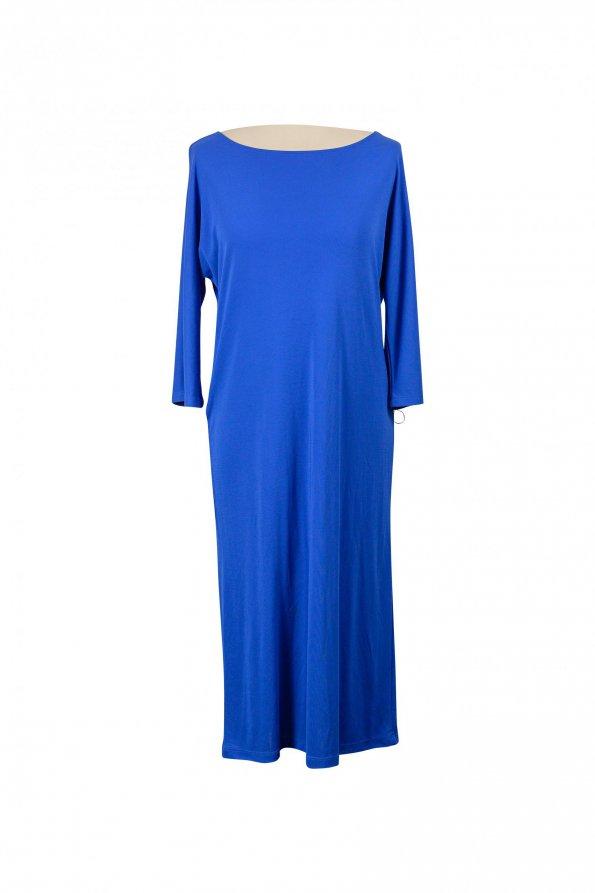 שמלת 3/4 כחול רויאל עם חגורה 1