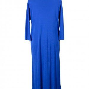 שמלת 3/4 כחול רויאל עם חגורה 2