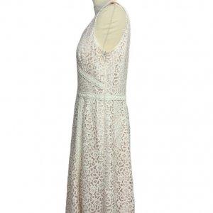 שמלה תחרה לבנה 3