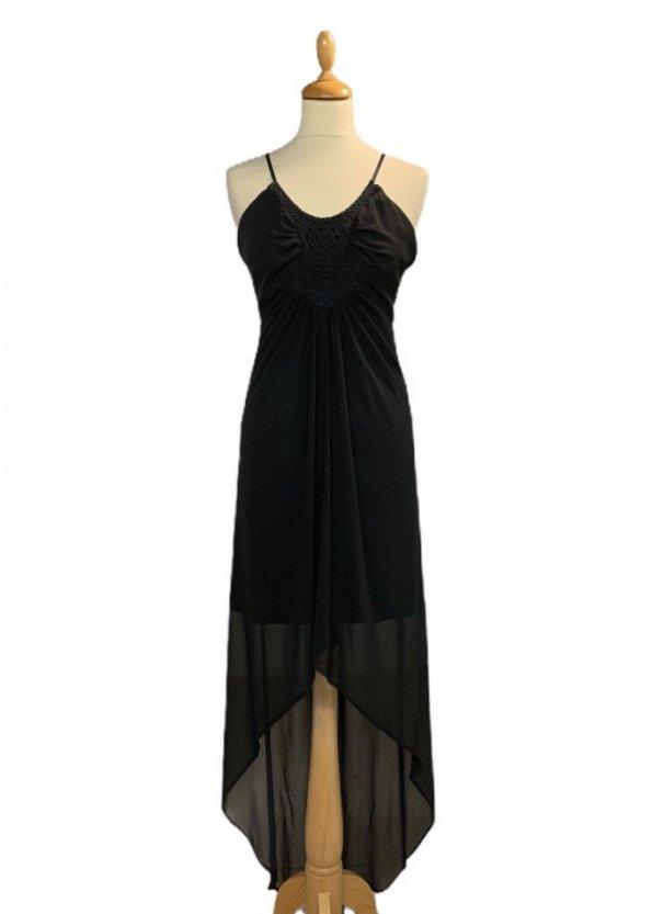 שמלת שיפון שחורה 1