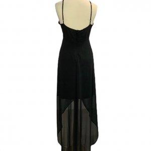 שמלת שיפון שחורה 2