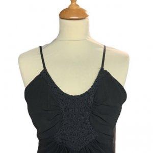 שמלת שיפון שחורה 5