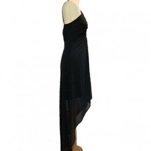 שמלת שיפון שחורה 3