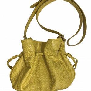 תיק bucket צהוב צד 3