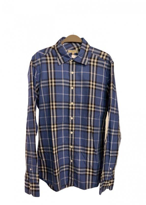 חולצה מכופתרת משבצות כחולה 1