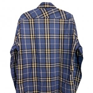 חולצה מכופתרת משבצות כחולה 2