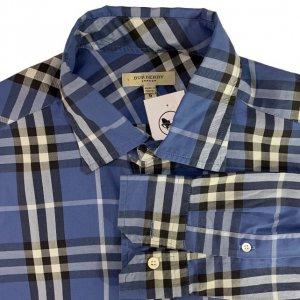 חולצה מכופתרת משבצות כחולה 3
