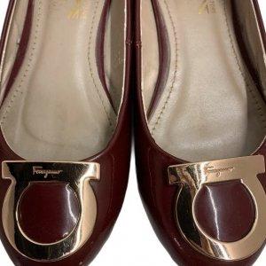נעלי בובה בורדו ferragamo 5