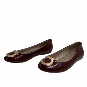 נעלי בובה בורדו ferragamo 2