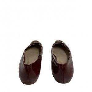 נעלי בובה בורדו ferragamo 3
