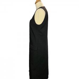 שמלה מחוייטת מכופתרת שחור 3