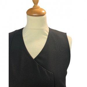 שמלה מחוייטת מכופתרת שחור 5