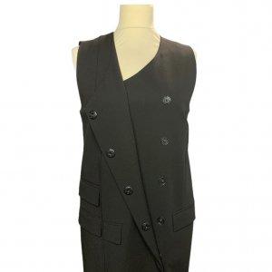 שמלה מחוייטת מכופתרת שחור 4