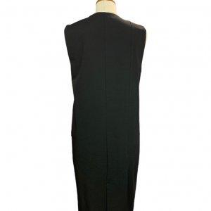 שמלה מחוייטת מכופתרת שחור 2