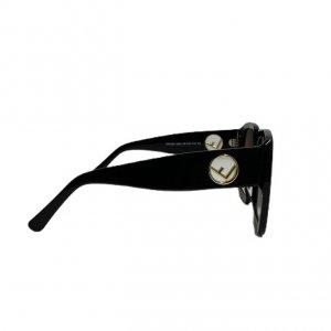 משקפי שמש מרובעות עם דוגמאת על המסגרת fendi 4