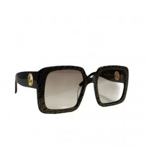 משקפי שמש מרובעות עם דוגמאת על המסגרת fendi 3