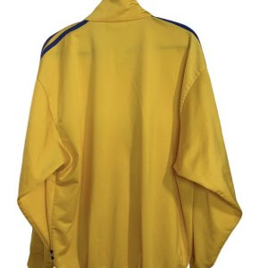 ז'קט ספורט צהוב וינטג לגבר פסים כחולים 2