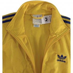 ז'קט ספורט צהוב וינטג לגבר פסים כחולים 4